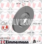 Predný brzdový kotúč (328mm) P3 XC60 (2016-) RE0A (plný okolo stredu)