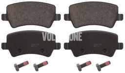 Zadné brzdové platničky (elektrická parkovacia brzda)(vetraný kotúč) P3 S60 II(XC)/V60(XC) XC60 S80 II/V70 III/XC70 III