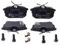 Zadné brzdové platničky (260mm kotúč) S40/V40