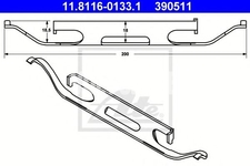 Príslušenstvo predných brzdových platničiek (328mm kotúč) P3 XC60/P2 XC90