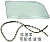 Sklo svetlometu pravé duálny svetlomet S40/V40 zvisle jemne vrúbkované sklo