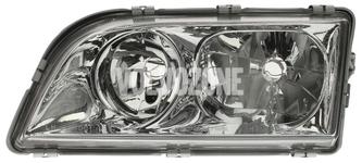 Svetlomet ľavý duálny S40/V40 (1999-) chróm 4 PIN