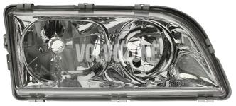 Svetlomet pravý duálny S40/V40 (1999-) chróm 4 PIN