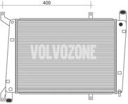 Chladič motora (vody) 1.9DI (70kW) S40/40