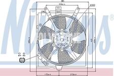 Vrtuľa ventilátora chladiča motora 1.6/1.8/2.0 (2000-) S40/V40