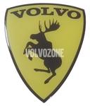 Živicová nálepka Los Volvo - žltá