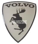 Živicová nálepka Los Volvo - chrómové pozadie