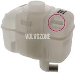Expanzná nádobka chladiacej kvapaliny 2.5 TDI P80 (1999-)/P2 S80 s dvoma vývodmi na hornej strane