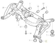 Uloženie zadnej nápravnice - predné priečne rameno P2 XC90