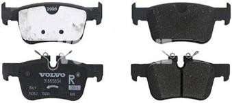 Zadné brzdové platničky (302mm kotúč) SPA S60 III/V60 II(XC) S90 II/V90 II(XC) XC60 II Variant code RC01