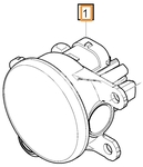 Hmlové svetlo pravé SPA S60 III/V60 II(XC)