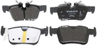 Zadné brzdové platničky (302mm kotúč) SPA S60 III/V60 II(XC) S90 II/V90 II(XC) XC60 II Variant code RC02