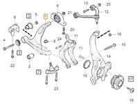 Rameno zavesenia kolies pravé SPA S60 III/V60 II