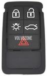 Náhradné tlačítka púzdra diaľkového ovládania P3 S60 II(XC)/V60(XC)/XC60 S80 II/V70 III/XC70 III - 5 tlačítkové