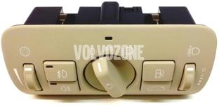 Kombinovaný spínač svetiel P3 S80 II/V70 III/XC70 III/XC60 halogénové svetlá, béžový