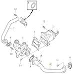Rúrka EGR ventilu 2.0 D2/D3/D4/D5 (2014-) P1 P3 SPA