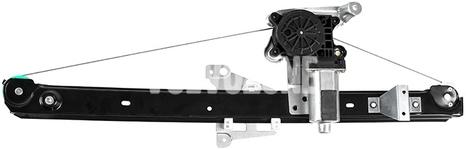 Mechanizmus sťahovania zadného pravého okna P2 XC90 s elektromotorom, strana za spolujazdcom