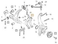 Vidlička zavesenia ramena pravá SPA S60 III/V60 II