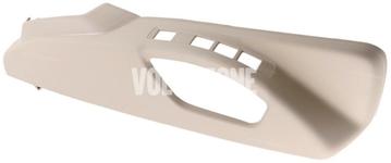 Bočný kryt sedadla spolujazdca P3 S60 II(XC)/V60(XC), XC60 (2011-), (2015-) S80 II/V70 III/XC70 III el. ovládanie, man. nastavenie podpory bedier, farba béžová