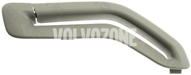Krytka vodítka bezpečnostného pásu P2 (-2005) S60/S80/V70 II/XC70 II/XC90 strana spolujazdca, farba sivá