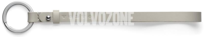 Kožený remienok na kľúče Volvo, 18cm bledý