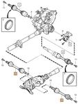 Zadná poloos ľavá/pravá P2 S60/V70 II/XC70 II prevodovka M66 AWD (D5), TF-80SC AWD (R)