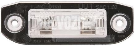 Svetlo na osvetlenie evidenčného čísla P1 C70 II/S40 II/V50, P2 (2004-) S80/XC90, P3 S60 II(XC)/V60(XC)/XC60 S80 II/V70 III/XC70 III
