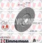 Predný brzdový kotúč (345mm) SPA S60 III/V60 II(XC) S90 II/V90 II(XC) XC40/XC60 II/XC90 II dierovaný