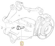 Snímač počtu otáčok zadného kolesa SPA XC40 (Variant AG01)