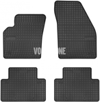 Gumové rohože P1 C30/S40 II/V50 - čierno-sivé