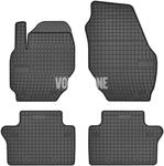 Gumové rohože P3 S60 II(XC)/V60(XC) S80 II/V70 III/XC70 III - čierno-sivé