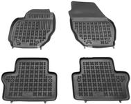 Gumové rohože s vysokým okrajom P3 S80 II/V70 III/XC70 III - čierno-sivé