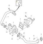 Tesnenie rúrky EGR ventilu 2.0 D2/D3/D4/D5 (2014-) P1 P3 SPA/CMA