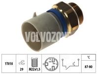 Teplotný spínač ventilátoru chladiča 1.9TD/DI S40/V40 (2 póly - vozidlá bez klimatizácie)