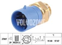 Teplotný spínač ventilátoru chladiča 1.9TD/DI S40/V40 (3 póly - vozidlá s klimatizáciou)